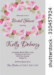 invitation or wedding card with ... | Shutterstock .eps vector #310457924