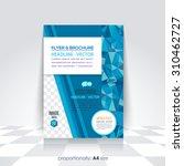 a4 flyer  brochure. cover... | Shutterstock .eps vector #310462727