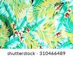 texture fabric vintage hawaiian ... | Shutterstock . vector #310466489