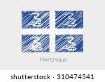 a scribbled flag illustration... | Shutterstock . vector #310474541