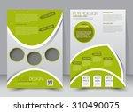 flyer template. business... | Shutterstock .eps vector #310490075