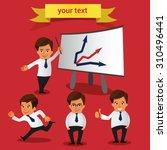 set of businessman character. | Shutterstock .eps vector #310496441