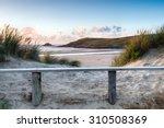 Sand Dunes At Crantock Beach...