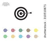 icon flat target with dart in... | Shutterstock .eps vector #310510871