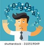 digital dizziness. digit... | Shutterstock .eps vector #310519049