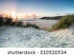sunset through the sand dunes...