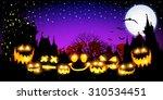 halloween night sky background | Shutterstock . vector #310534451