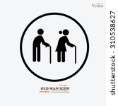 elder icon.old man.vector... | Shutterstock .eps vector #310538627