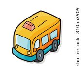 toy car doodle | Shutterstock .eps vector #310553909