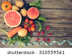 fruits  vegetables and in...   Shutterstock . vector #310559561