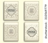 vintage vector brochure or... | Shutterstock .eps vector #310569779