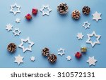 christmas decoration background ... | Shutterstock . vector #310572131