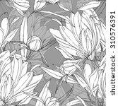 abstract vector flowers  ... | Shutterstock .eps vector #310576391