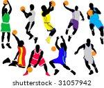 basketball players vector | Shutterstock .eps vector #31057942