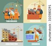 construction flat icons set... | Shutterstock .eps vector #310580291
