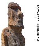 Sculpture Of A Moai Carved In...