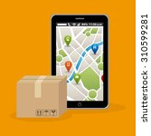 delivery service design  vector ... | Shutterstock .eps vector #310599281