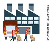 delivery service design  vector ... | Shutterstock .eps vector #310599581