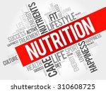 nutrition word cloud  fitness ... | Shutterstock .eps vector #310608725