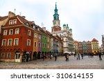 old market square in poznan in... | Shutterstock . vector #310614155