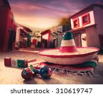 mexican fiesta background with... | Shutterstock . vector #310619747