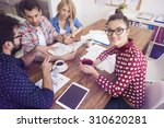 busy day at the office  | Shutterstock . vector #310620281