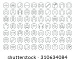 the vector illustration of set... | Shutterstock .eps vector #310634084