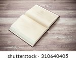 open book on the wooden table | Shutterstock . vector #310640405