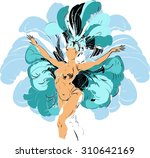 cabaret dancer | Shutterstock . vector #310642169