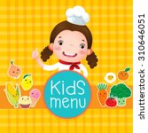 design of kids menu with... | Shutterstock .eps vector #310646051