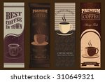 elegant coffee banners with... | Shutterstock .eps vector #310649321