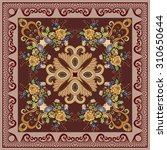 bandanna with a floral design... | Shutterstock .eps vector #310650644