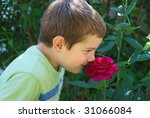 a portrait of a boy smiling and ... | Shutterstock . vector #31066084