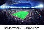 illuminated football stadium... | Shutterstock . vector #310664225