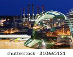 oil refinery work safety first  ...   Shutterstock . vector #310665131