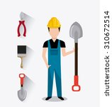 under construction design ... | Shutterstock .eps vector #310672514