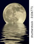 true full april moon  michigan  ... | Shutterstock . vector #3106771