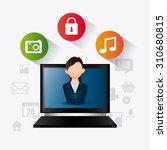 social media design  vector...   Shutterstock .eps vector #310680815