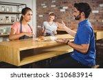 unhappy customer complaining... | Shutterstock . vector #310683914