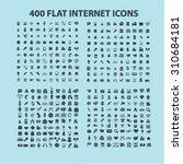 400 flat web  internet ... | Shutterstock .eps vector #310684181