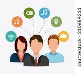 social media design  vector... | Shutterstock .eps vector #310684211