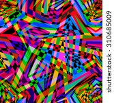 psychedelic abstract geometric... | Shutterstock .eps vector #310685009