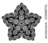 vector beautiful deco black... | Shutterstock .eps vector #310688741