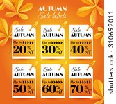 set with autumn sale labels... | Shutterstock .eps vector #310692011