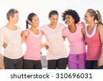 laughing women wearing pink for ...   Shutterstock . vector #310696031