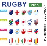 rugby 2015  all pools  all flag | Shutterstock .eps vector #310698077