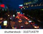 the evening twilight traffic in