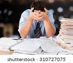 emotional stress. | Shutterstock . vector #310727075
