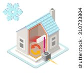 home heating system air... | Shutterstock .eps vector #310733804