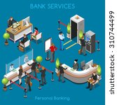 bank office reception service... | Shutterstock .eps vector #310744499